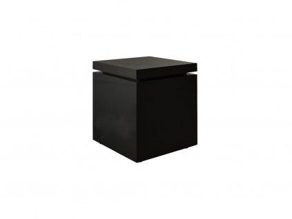 Černý odkládací stolek Kelly Hoppen Flow Medium