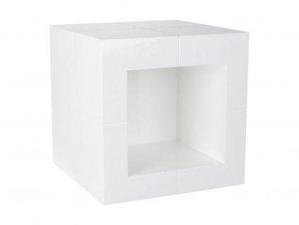 Bílý odkládací stolek Kelly Hoppen The Open Cube
