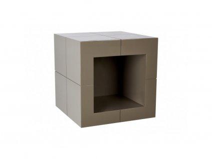 Béžový odkládací stolek Kelly Hoppen The Open Cube
