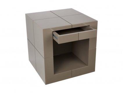 Béžový odkládací stolek se šuplíkem Kelly Hoppen