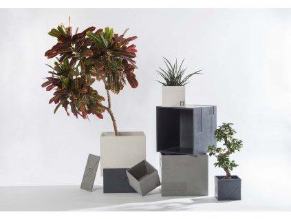 Dekorativní betonový květináč CUBIC M
