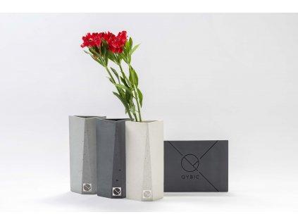 Dekorativní betonová váza TRIANGLE