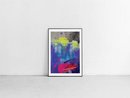 Abstraktní obraz LOVE ARTYLIST - Lů Jindrák Skřivánková
