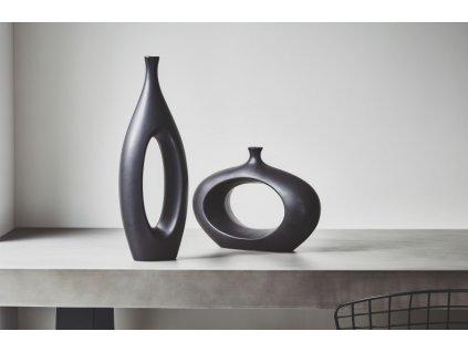 Váza Kelly Hoppen Ebony - vysoká
