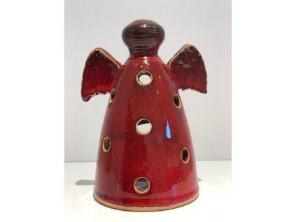 Dufek keramika Světelný anděl - červený
