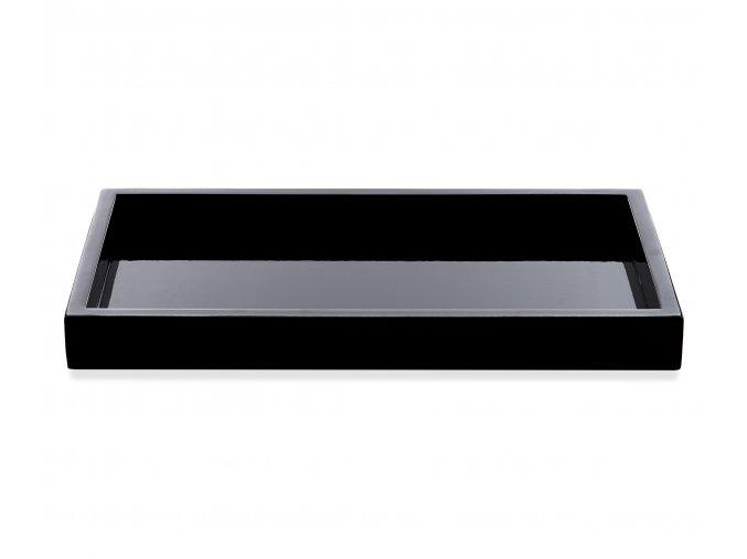 Černý lakovaný podnos - střední (Barva Černá)