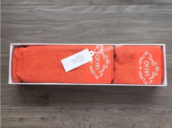 set ručníků oranžová