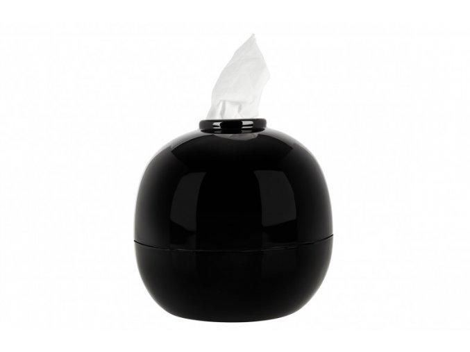 Kulatý box na kapesníky - černý