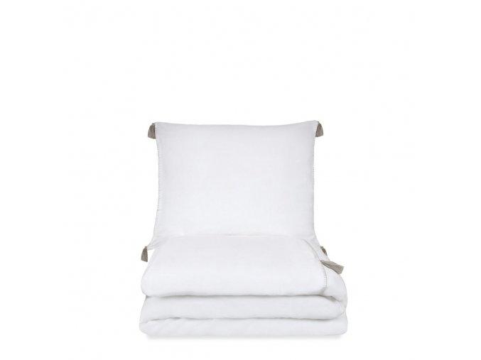 bed stonewashed linnen dekbedovertrek lison wit ps