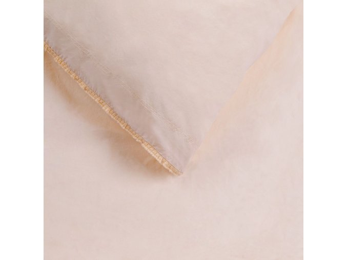 bed organisch katoenen dekbedovertrek trappani nude detail 1