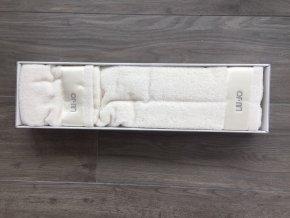 set ručníků slonová kost