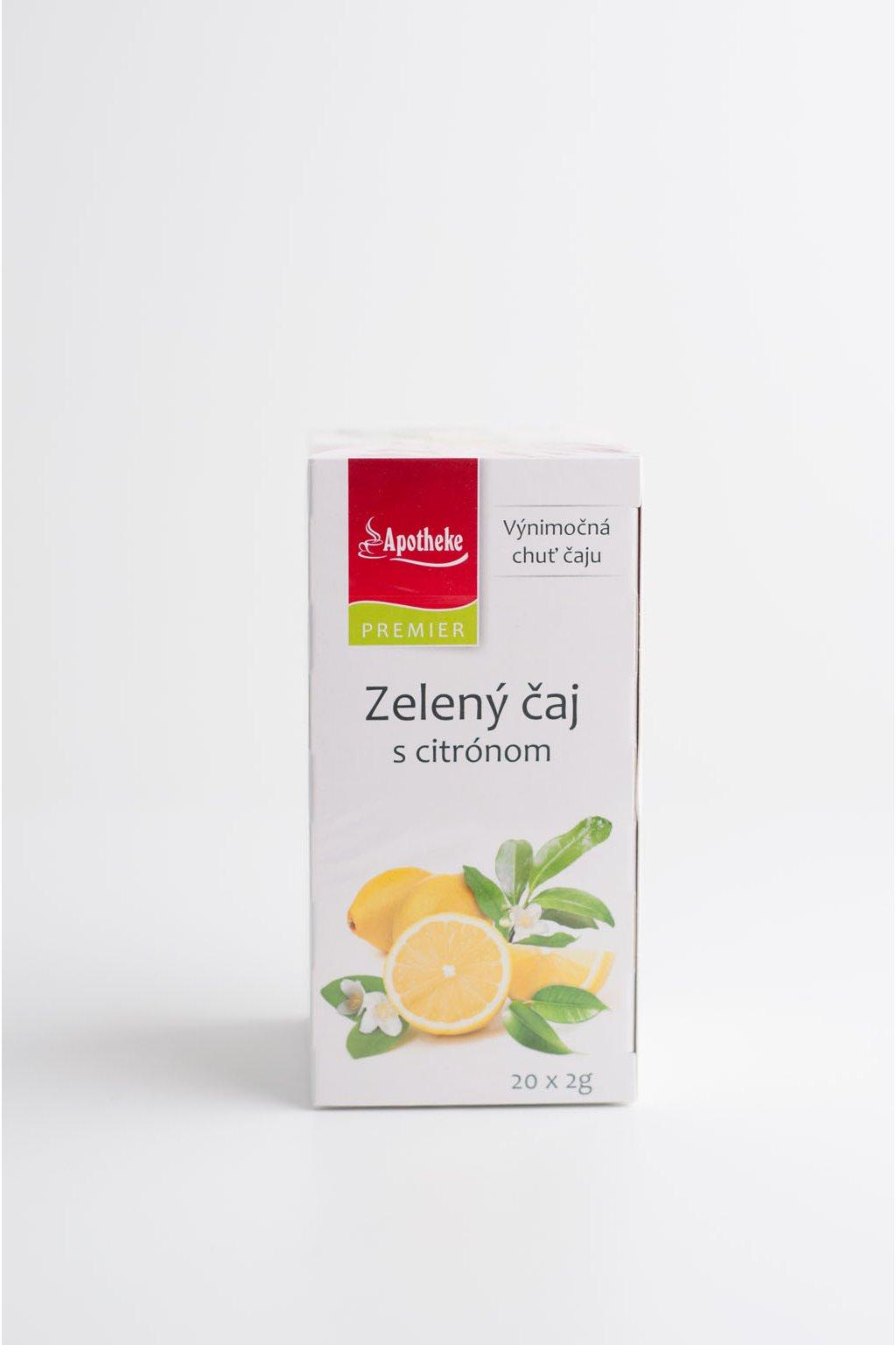 Zelený čaj s citrónom - 20x2g