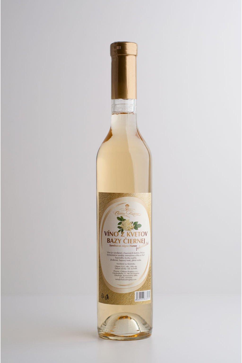Víno z kvetov bazy čiernej - 0,5l