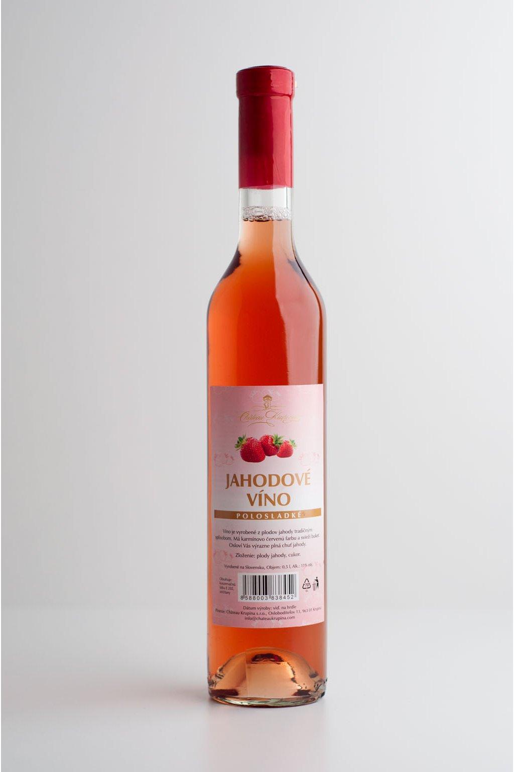 Jahodové víno - 0,5l