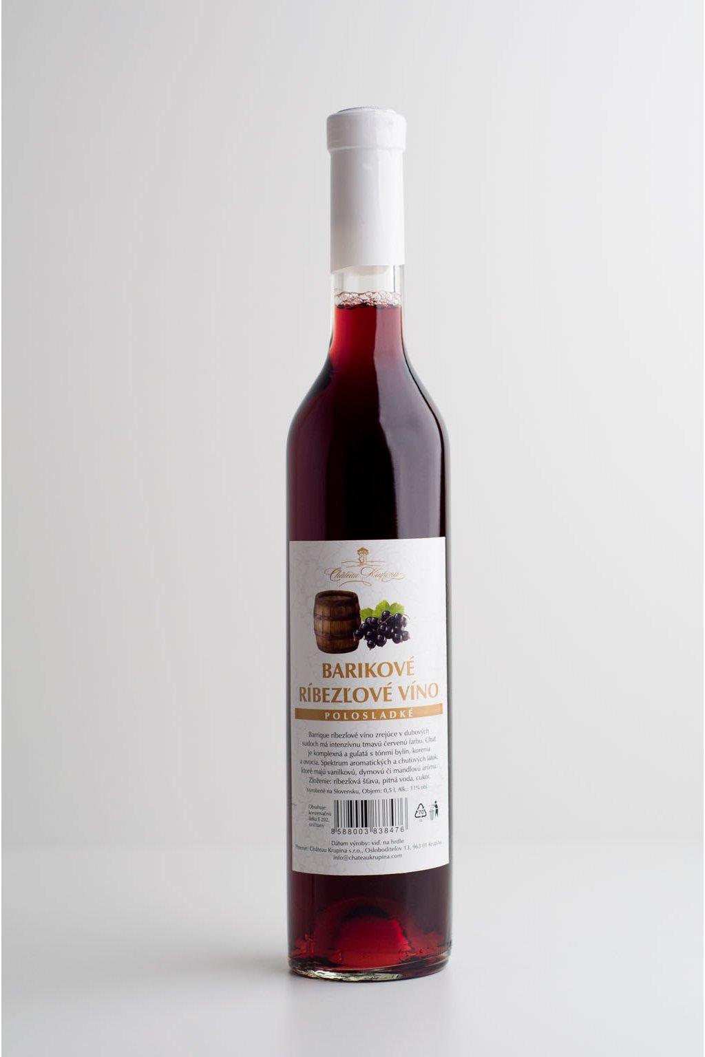 Barikové ríbezľové víno - 0,5l