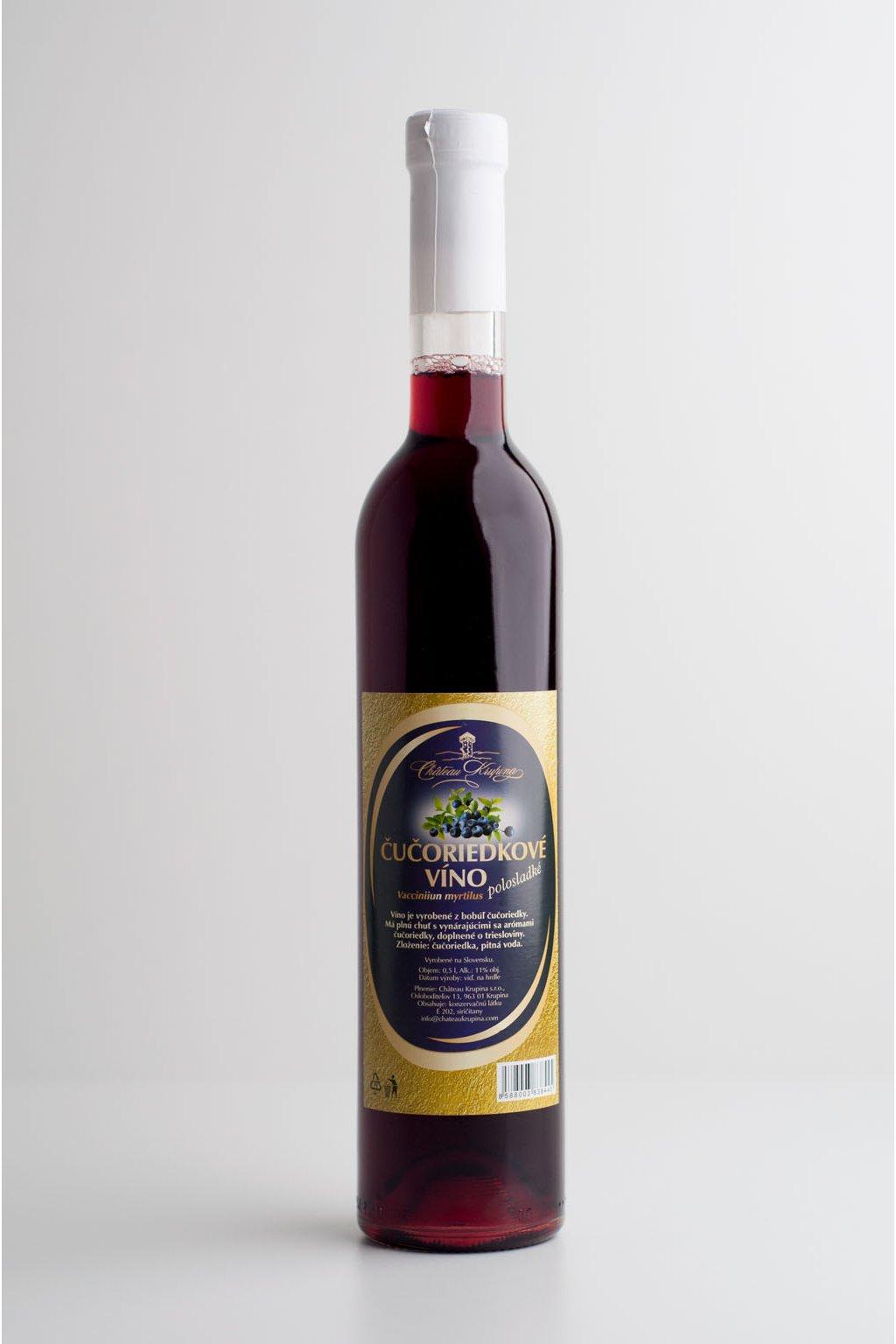 Čučoriedkové víno - 0,5l