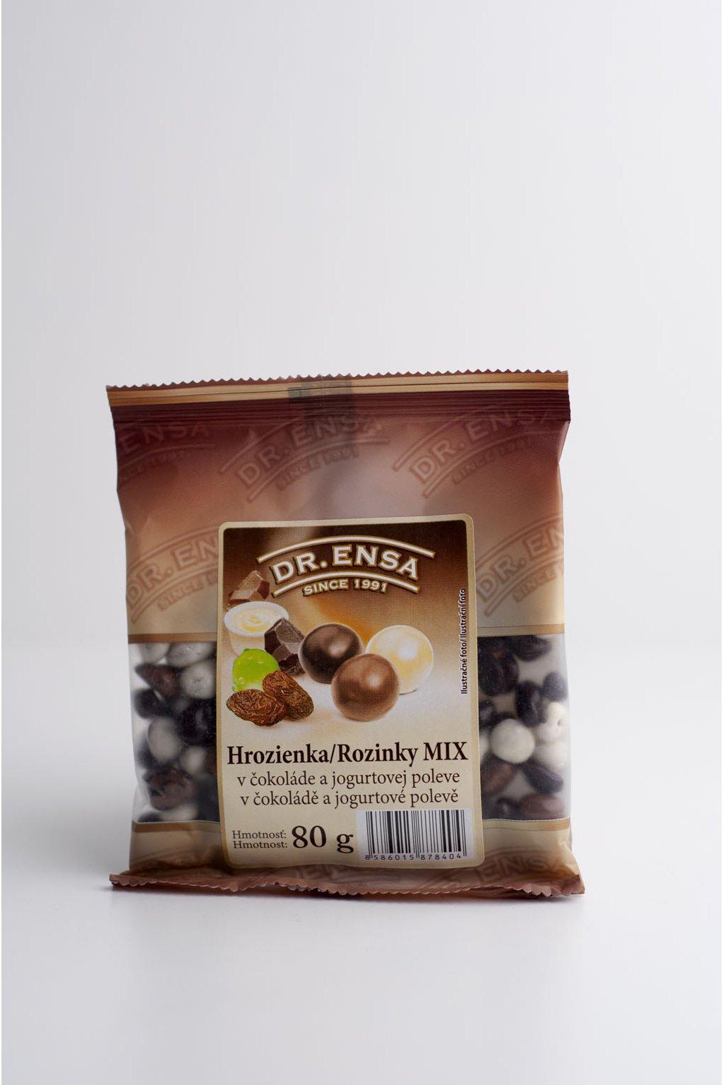 Hrozienka MIX v čokoláde a jogurtovej poleve