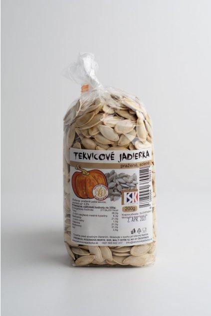 Tekvicové jadierka - pražené, solené - 200g