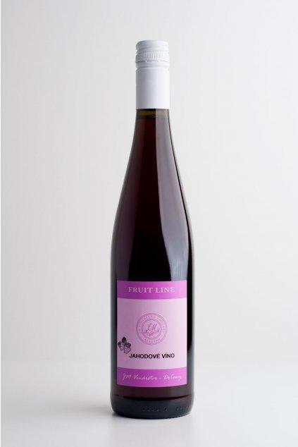 Jahodové víno - 0,75l