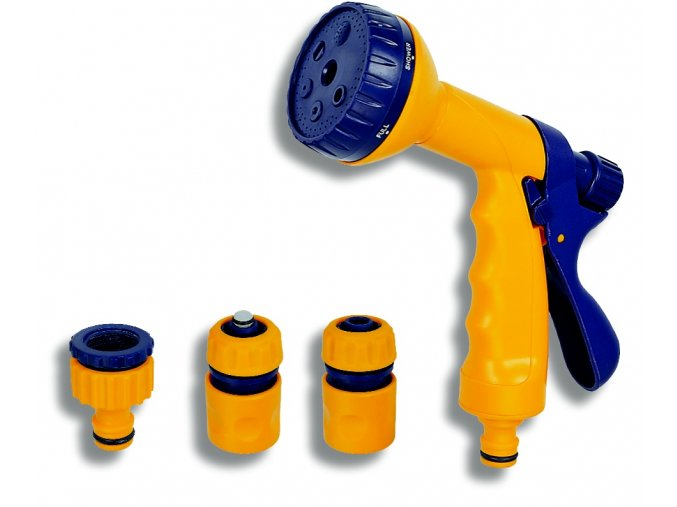 NOVA DY 2323 pistole se 6-funkcemi a sadou - plast