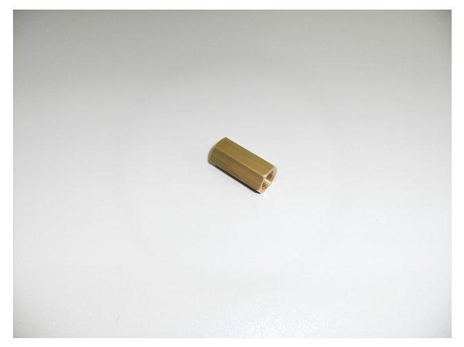 """MOS 962 mosazný nátrubek dlouhý 1/4"""""""