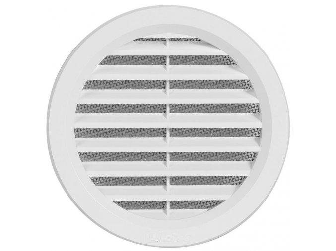 Větrací mřížka PVC 125mm, bílá