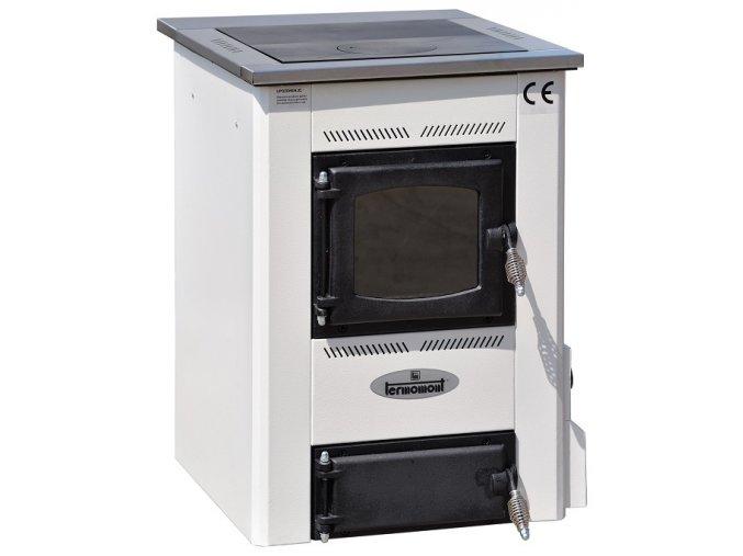 TEMY S15 BÍLÝ teplovodní sporák - interiérový kotel, teplovodní výkon 11kW