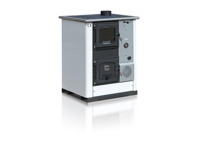 TEMY PLUS18 PRAVÝ BÍLÝ teplovodní sporák - interiérový kotel, teplovodní výkon 13kW