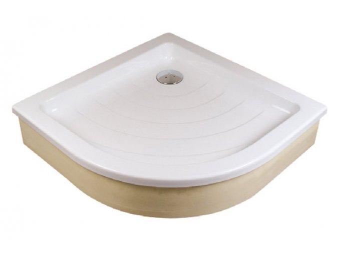RAVAK RONDA 80EX čtvrtkruhová sprchová vanička 80/80cm, akrylát