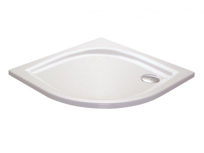 RAVAK ELIPSO 80LA čtvrtkruhová sprchová vanička 80/80cm, akrylát