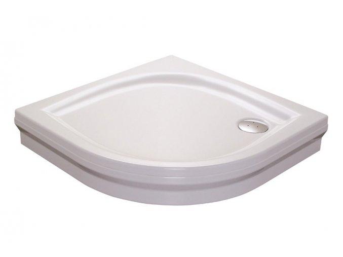 RAVAK ELIPSO 80PAN čtvrtkruhová sprchová vanička 80/80cm, akrylát