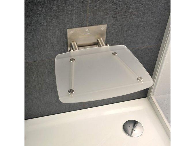 RAVAK OVO B CLEAR sprchové sedátko nerez/čiré