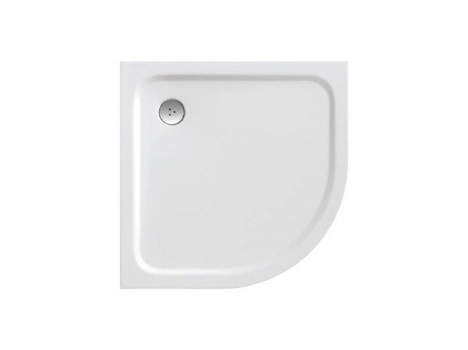 RAVAK ELIPSO PRO CHROME 80 čtvrtkruhová sprchová vanička 80/80cm, úmělý mramor KONCEPT CHROME