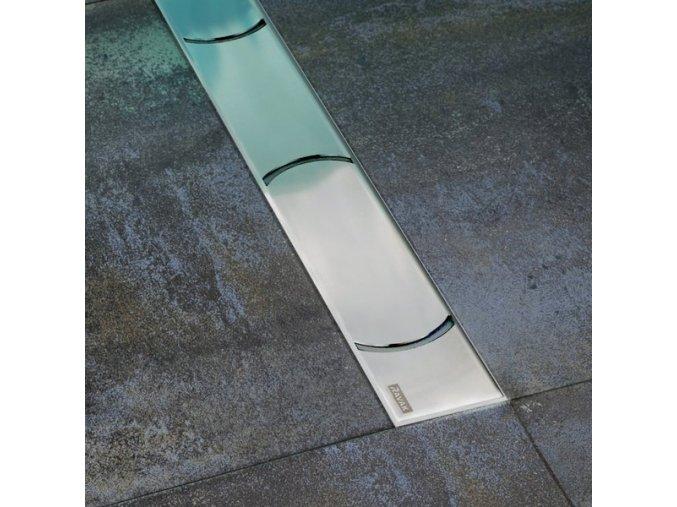 RAVAK OZ CHROME 1050 nerezový sprchový žlábek 1050mm KONCEPT CHROME