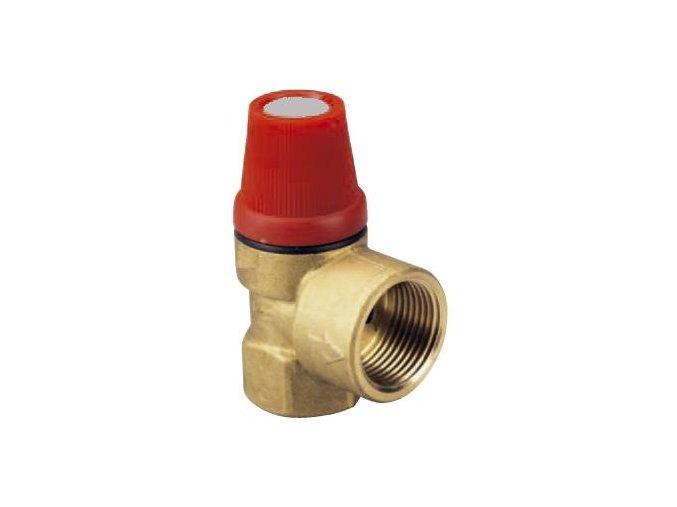 """ARM PV 15-3 pojistný ventil 1/2"""", 3 bar"""