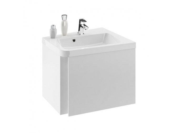 RAVAK 10° SD pravá skříňka pod rohové umyvadlo 550x485mm bílá - KONCEPT 10°