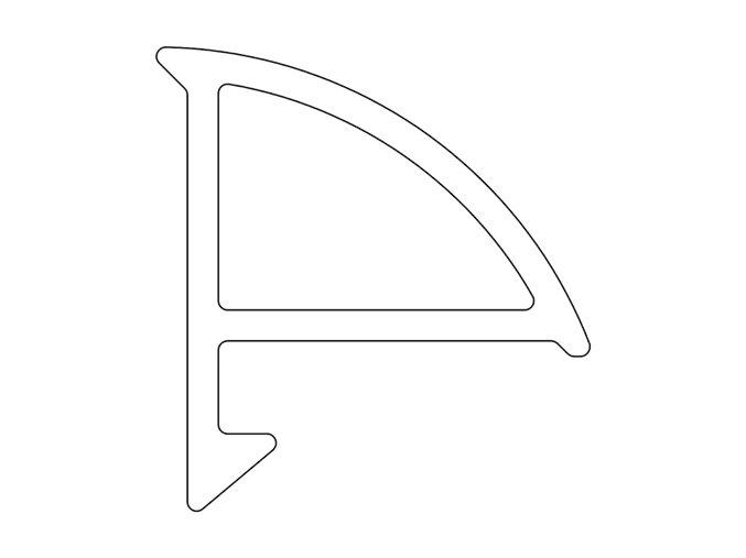 RAVAK SADA 2x roh + 2x záslepka pro krycí lištu 6mm