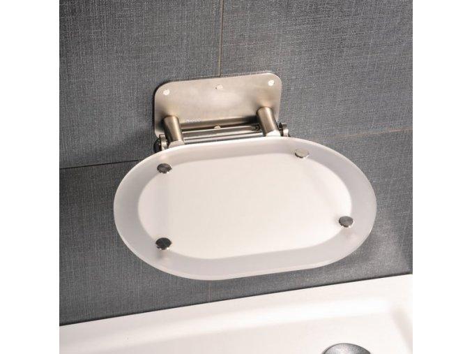 RAVAK OVO CHROME NEREZ sprchové sedátko s nerez konstrukcí - KONCEPT CHROME