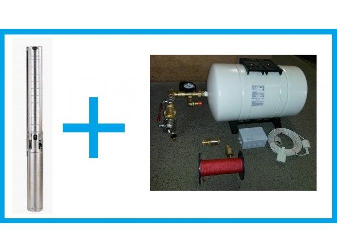 BM SET 0030111 set čerpadla Grundfos SP2A-13 a příslušenství. Pro vrty hluboké max. 30m.