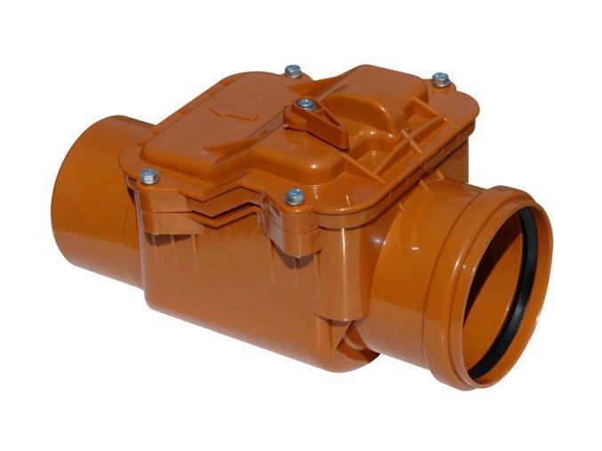 Odpadní zpětná klapka pro KG potrubí 125