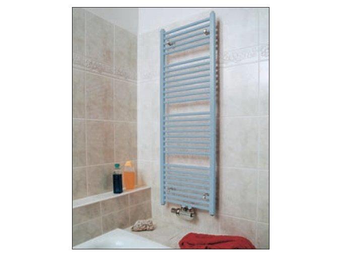 KLCM 900.600 koupelnový žebřík 90/60 cm bílý, rovný, středové připojení