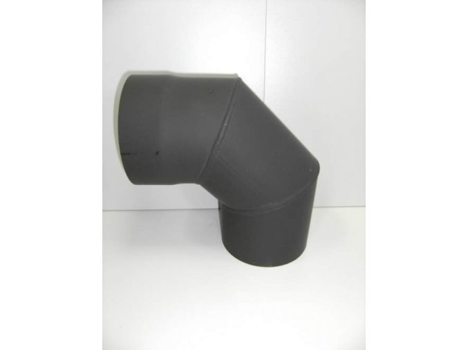Kouřovodové koleno 160/90° bez čistícího otvoru
