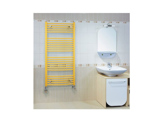 KRC 900.600 koupelnový žebřík 90/60 cm bílý, prohnutý