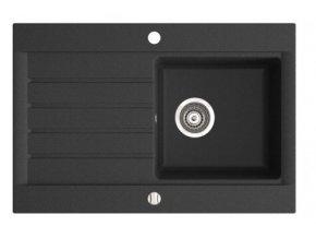 NOVA DRG52/78B granitový dřez s odkapem 52/78cm, barva Grafit