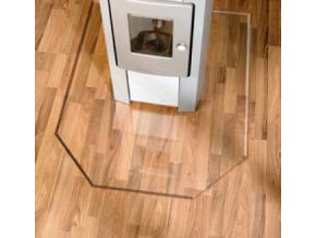 LB 21.02.889.2 sklo pod kamna 8mm, 100x120cm, tvar šestiúhelník