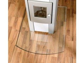 LB 21.02.882.2 sklo pod kamna 8mm, 120x100cm, tvar zkosený oblouk