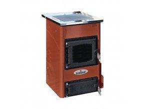 TEMY S10 HNĚDÝ teplovodní sporák - interiérový kotel, teplovodní výkon 7kW