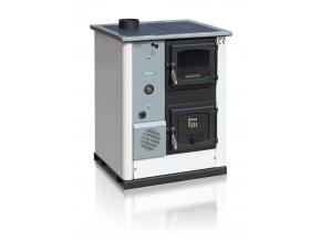 TEMY PLUS18 LEVÝ BÍLÝ teplovodní sporák - interiérový kotel, teplovodní výkon 13kW