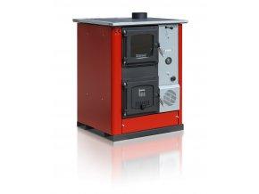 TEMY PLUS18 PRAVÝ ČERVENÝ teplovodní sporák - interiérový kotel, teplovodní výkon 13kW