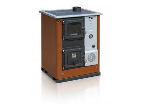 TEMY PLUS18 PRAVÝ HNĚDÝ teplovodní sporák - interiérový kotel, teplovodní výkon 13kW